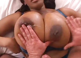 Busty BBC Queenie sexily shakes her ass on top |