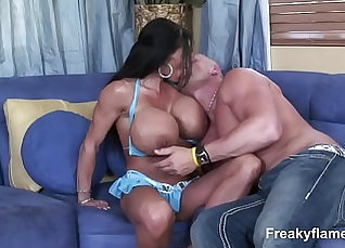 Busty MILF Swallows Huge White Dick  