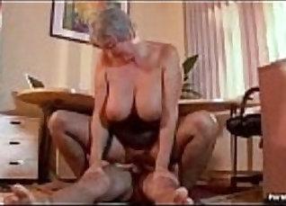 Busty granny Sophia fucks a young girl |
