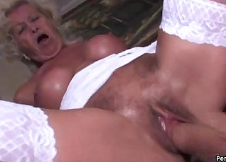 Gorgeous granny patrol and gets her tight pussy taken |