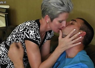 Mother jacking off son for his first cock |