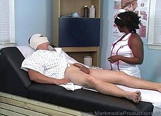 Black nurse fucks valuable white employee He began cocksucking her breast  