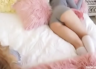 Babysitter gets fucked so i licked her pussy |