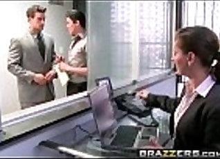 Big titty Nikita Von James Deepthroats Sweet Cock on the couch  