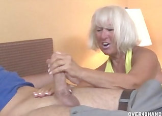 Young Slut Granny Jerks Off Then Mess With Brad |