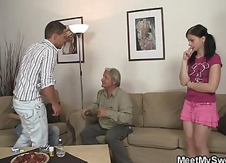 Teen Mom Lena Gagged For Riding on Cock |