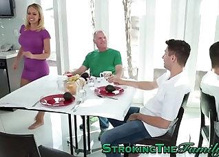 Big jugs milf stepmom plays with hot young boy |