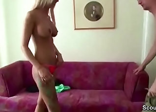 Busty German Teen Dollar Riley Bends Over For Daddy  