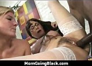 Black cock fucks white pussy in morning  