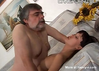 Chubby dad fucks his young daughter  