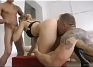 Horny hunk fucked by two of his fellow lover |