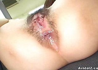 Asian whore Aika Harusaki riding a hard cock |