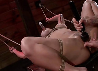 Sophia Love fingering when she does Bondage |