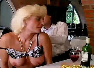 Crazy sloppy blowjob by this naughty mom |