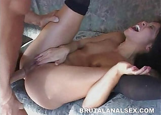 Cute Asian and petite Chayah Gray got brutal fuck in different ways |