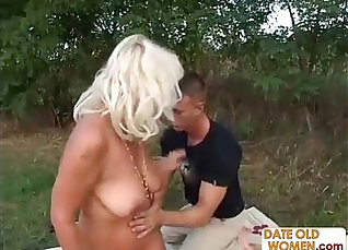 grandma to try her outdoors sex |