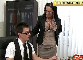 Persia Nakano nailed in hot office corner |