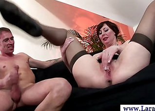 Cock riding Stepsisters in Stockings |