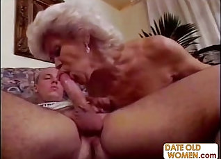 Cute granny has a large sybian shoved inside her pussy |