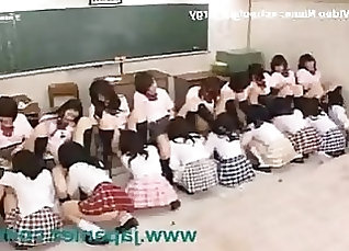 Dirty schoolgirls are addicted to group orgy with horny masseur |