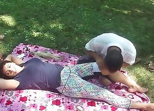 a friend gives a chinese massage |